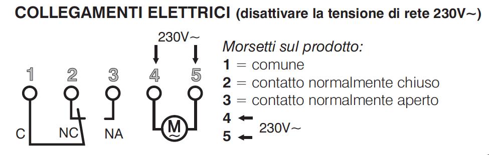 Schema Collegamento Orologio Elettromeccanico : Io perry electric