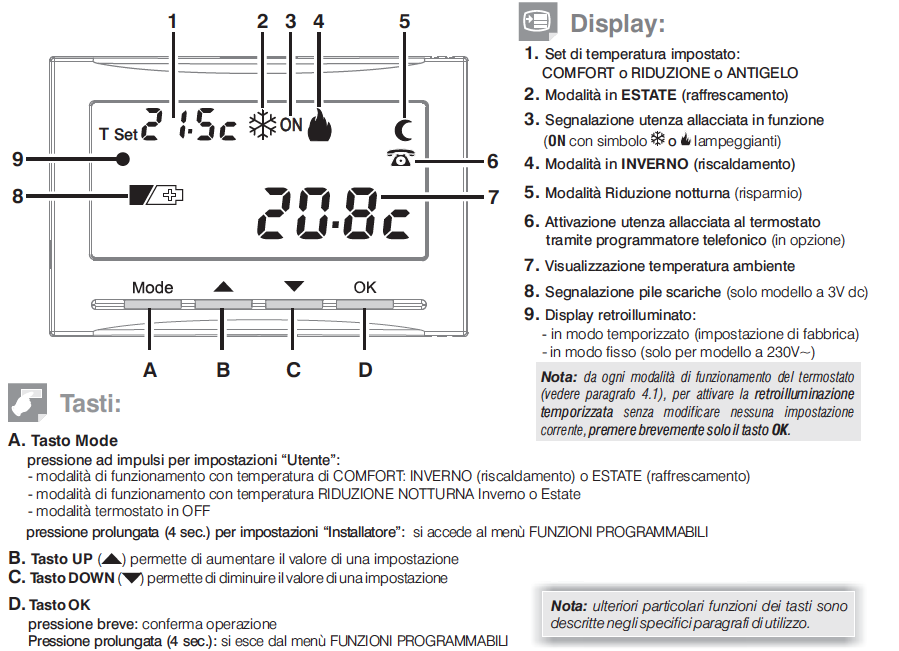 1ti te541 perry electric for Cronotermostato perry istruzioni