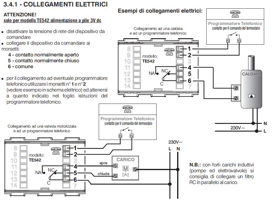 Schema Collegamento Orologio Perry : Dubbio termostato caldaia il forum di electroyou
